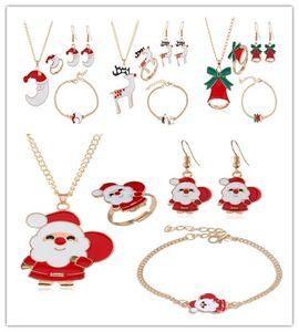 Yeni Noel Takı Seti Ağacı Noel Baba Elk Ay Bell Noel Serisi Moda Bilezik Takı Vücut kolye Gönder Arkadaş Hediyeleri