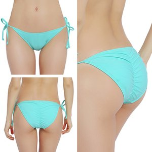 PERONA Solid Bikini Bottom Prendere il sole donna sexy di Scrunch posteriore inferiore Swimwear femminile brasiliana Beach Wear Rio Slip bikini 113