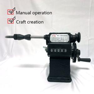 manual de doble finalidad de conteo devanado de la bobina de la máquina 0-9999 rango de contaje de bobinado varias bobinas pequeñas máquina Manual Winder
