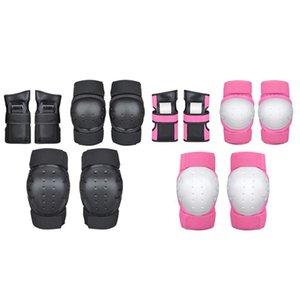 6pcs monopatín de protección Gear Set de hielo del patinaje sobre ruedas rodilla, codo, muñeca del cojín de patinaje sobre hielo de rodillos rodilla de la muñeca del protector de la Infancia