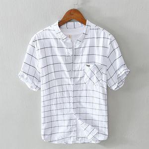 Summer Men Plaid Shirt 100% Cotton 2020 Casual cool short Sleeve Shirt Soft Comfort Slim Fit Styles