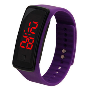 New Fashion Sport LED Watches Candy Jelly men women Silicone Rubber Touch Screen Digital Watches Bracelet Wrist watch