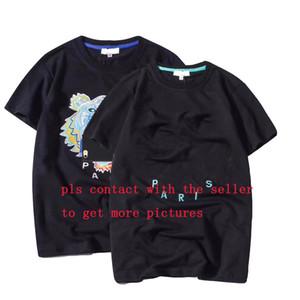 20s el verano del diseñador camisetas para los hombres tops cabeza del tigre bordado de la letra camiseta para hombre de la marca de ropa de manga corta camiseta tapas de las mujeres S-2XL
