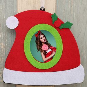 Guanti di modo Buon albero di Natale appeso Photo Frame Decorazione natalizia Cornice casa Chirstmas Decoration