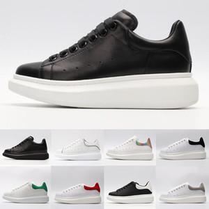 Macqueen Fashion ACE noir blanc Queens Brand Fashion chaussures de sport en cuir de luxe pour les femmes femmes hommes noir or rouge sneaker