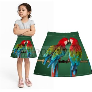Girls Skirts new- new Brand Spring Summer baby parrot birds Print Skirt Kids Clothes Children Mini skirts