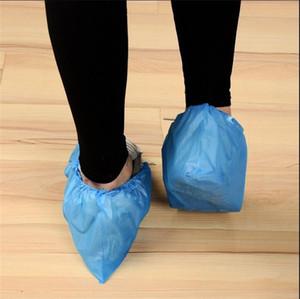 Sicurezza monouso copriscarpe la protezione del pavimento Cpe Luce tessuto ispessito elastico prova della polvere Overshoe antiscivolo Boots Covers 100piece 10 8LD E