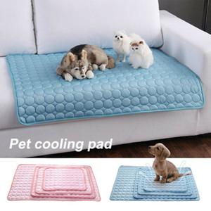 Verão Pet filhote de cachorro Cat Dog Cooling Gel Mat Bed Calor Relief não Almofada Toxic Pad S M L