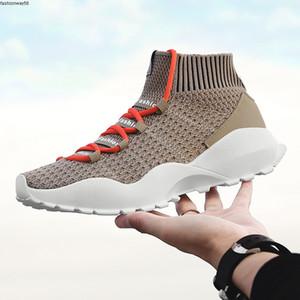 Outdoor Vogue Comfortable Men Casual Sneakers Shoes Non-slip Walking Shoes Fashion High Top Plus Velvet Socks