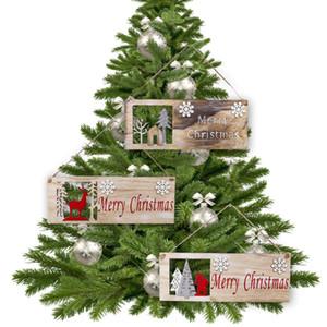 Behogar Moda Feliz Navidad colgante de madera para decoración del ornamento Casa Comprar Supermercado Mall Shopping Center Partido