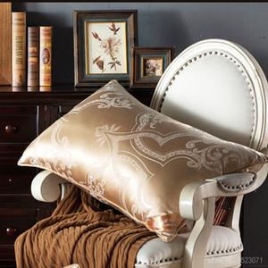 100% Mulberry Silk постельных Подушка / Luxury Rose Gold Natural Head Sleepping Подушки Наполнитель Европейский стиль свободный корабль