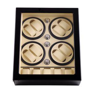 Часы Winder, LT Wooden Автоматическое вращение 8 + 5 Часы Winder хранения Case Display Box 2019 Новый стиль (внутри белый Внешний черный)