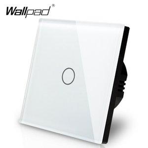 Üretici Wallpad AB Standardı 1 Gang 2 Yollu 3 Yollu Kontrol Beyaz Duvar Işık Dokunmatik Ekran Anahtarı Cam Panel, Ücretsiz Kargo T200605