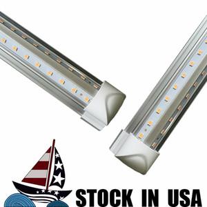 4 pies 5 pies 6 pies 8 pies del tubo de luz LED de la forma de V Tubos Integrated LED 4 5 6 8 ft Enfriador Puerta de iluminación LED Congelador