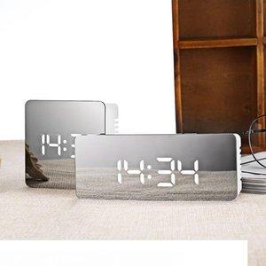 Çok fonksiyonlu LED Ayna Çalar Saat Dijital Saat Erteleme Fonksiyonu Büyük Saat Ekran Masaüstü Çalar Saat Despertador