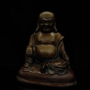 Chinese Antique Brass Maitreya Buddha Model Statue TH008