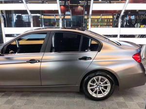 Film de vinyle d'enveloppe de voiture de gris de Matt de gris métallique de satin libre de bulle d'air de 1.52x20m pour l'emballage de véhicule