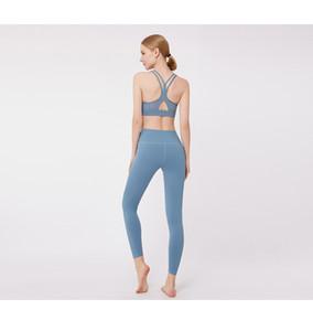 2020 Womens Designer Fatos Moda Sólidos terno Cor Sports para Yoga Womens roupas de marca Sports Bra Gym Pants Yoga Suit 4 cores