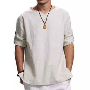 Tasarımcı Tshirts Kazak Gevşek Erkekler Tshirts Casual Erkek Katı Renk Men Tops