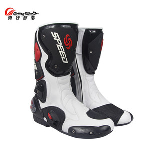 Probiker fiber leather speed motorcycle boots men and women antiskid motorbike motocross moto botas de moto botas moto