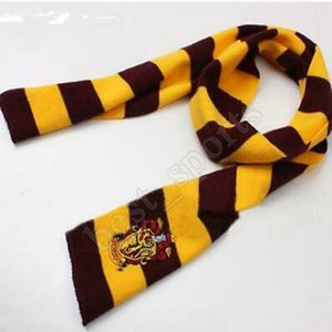 4 Styles Harry Potter College Scarf Gryffindor Slytherin Hufflepuff Ravenclaw Knitted Neckscarf With Badge Party Favor ZZA1272 300pcs