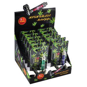 Outils Mini portables Nouvelle arrivée de haute qualité Pipe Métal Jamaïque Rasta / Tabac / Pipes Maintenant cadeau Mill Détecteurs de fumée