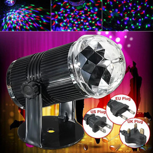 3w EU / US Plug son actif LED RVB cristal de scène Magic Ball Disco DJ Laser Eclairage pour Home Party Stage Bar Lighting