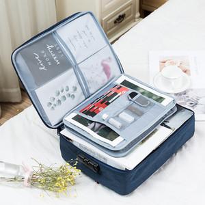حقائب سعة كبيرة الملف حقيبة وثيقة الإبداعية متعددة الوظائف مجلد تذكرة لوازم المنزل للسفر منظم التخزين