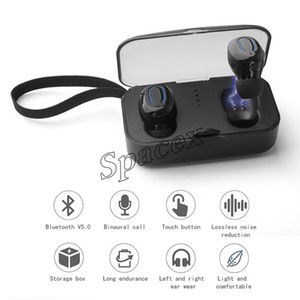 30pcs Ti8S TWS Sports Invisible Wireless Earphones Bluetooth V5.0 With in-Ear Handsfree Headset with Charging Box For All phone + Retail Box