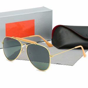3025hion Pilot Style Driving Sunglasses Men Women Classic Vintage Metal Frame Sun Glasses Oculos De Sol Masculino with Original case and box