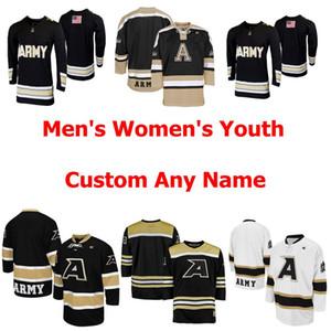 NCAA Army Black Knights Трикотажных мужских женщины Молодёжная KI Колледж Хоккей Трикотажный прошитый на заказ любого имя или номер