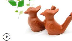 Vintage Style Vogel Wasser Whistles Lehm Ocarina Warbler Song-Keramik-Gezwitscher Kinder Bathtime Spielzeug