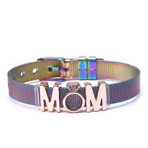 골키퍼 매력 그라디언트 팔찌 스테인레스 스틸 팔찌 선물 쥬얼리 엄마 엄마 어머니 3 색 사용 가능