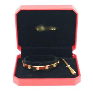 Klassische Art-316L Edelstahl-Schrauben-Liebe-Armband-Armband-Männer Frauen Paare Schmuck mit Schraubendreher und LOGO Weihnachtsgeschenk