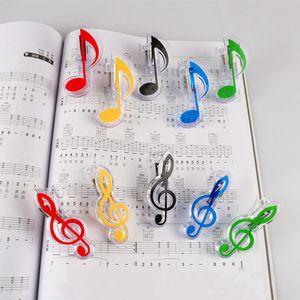 Kunststoff-Music Note Clip Piano Book Seite Clamp Musical Violinschlüssel Clips Hochzeit Geburtstagsfeierbevorzugung Geschenke