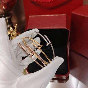 venta caliente S925 de plata populares del tornillo clásica de las señoras pulsera brazalete de oro de punk mejor joyería de lujo de la calidad de regalo