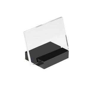 90 * 60mm Akrilik Burcu Tutucu Ekran Standı Eğimli Geri Masa Işareti Tutucu Çerçeve Etiket Ekran Danışma Burcu Standı Tutucu raf Konuşmacı