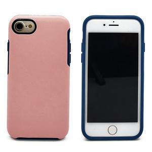 Роскошный Симметричный Чехол Для iPhone 8 Plus 7 6 6S Робот Броня Крышка Прочный Гибридный Броня Противоударный Мобильный Телефон Задняя Оболочка Пластиковая ТПУ Кожа