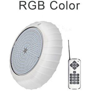2019 LED بركة مصباح AC 12V RGB مع تحكم عن بعد IP68 للماء البسيطة Nitcheless ستريت حمامات السباحة الخيالة الخفيفة مصباح تحت الماء الأبيض