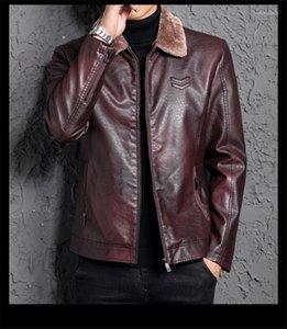 Casacos New Fur One Piece Leather Mens Juventude lapela Casual casacos de moda Machos Vestuário Mens Fashion Designer
