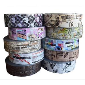 10Rolls Stickers Set jornal do vintage no prego Foils Adhesive Transferência para manicure quatro centímetros * 500m DIY Nail Art Decoração Acessórios