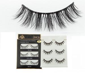 NEUE 3D-Nerz-Haar-falsche Wimpern 33 Styles Handgefertigte Schönheit dick lange weiche Mink Wimpern-Fälschungs-Augen-Peitsche-Wimper Sexy High Quality