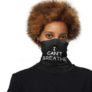 I Can't Breath Sunscreen Headgear Scarf Summer Outdoor Riding Mask Face Towel Head Bands for black lives matter faster shipping CNY2167