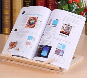 Réglable bois portable livre Support à Pupitres en bois pour ordinateur portable étude Tablet Faire cuire Livres de recettes Stands gratuits Bureau Drawer Organisateurs DHL