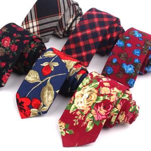 남자 동점 남자 여자를 위한 면 넥타이 결혼식 파티를 위한 형식적인 꽃무늬 목 동점 여위는 신랑 동점 Corbatas Hombre Cravat