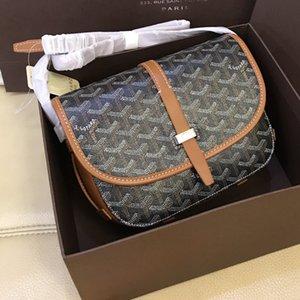 새로운 브랜드 파리 Goyar 댐 블랙 브라운 캔버스 메신저 가방 먼지 가방 패션 남성 여자 Gy의 작은 메신저 백 22CM 무료 배송!