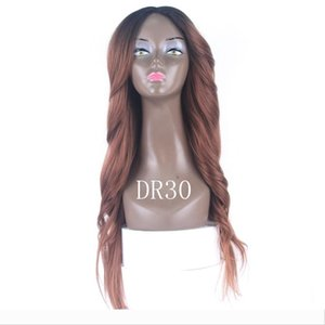 Ombre Wigs 613 Blonde Color Straight Purple Body Wave Hair Wigs 2# 4# Blue High Quality Heat Resistant Synthetic Straight Lace Wigs