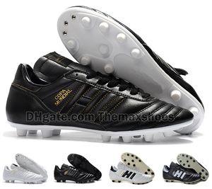 Sıcak Klasikleri Erkek Copa Mundial Deri FG Futbol Ayakkabıları İndirim Cleats Dünya Kupası Futbol Boots Siyah Beyaz botines futbol Boyutu 39-45