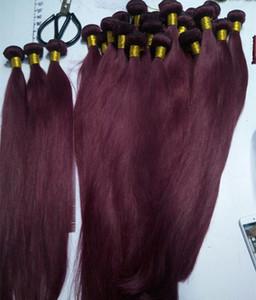 Elibess Марка - Оптовая Дистрибьюторы человеческих волос Weave 6 цвет 99j волос ткать 3Bundles, свободный DHL