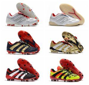 2019 chaussures de football pour hommes pas chers Predator Accelerator Electricity FG TR chaussures de football à crampons Predator Precision FG X Beckham gazon bottes de football en salle